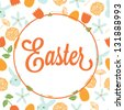 Vector illustration of Easter background - stock vector
