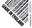 "Vector illustration of grunge stamp marked ""Made in England"" - stock vector"