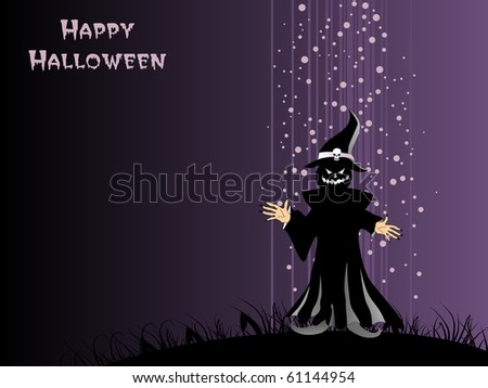vector illustration of happy halloween background