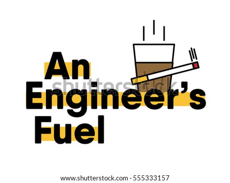 vector illustration of Hot tea and burning cigarette. eps 10. Indian art concept. tea and smoke combo for engineers