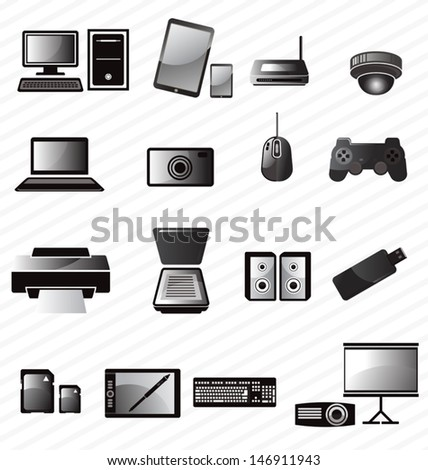vector illustration of   icon set