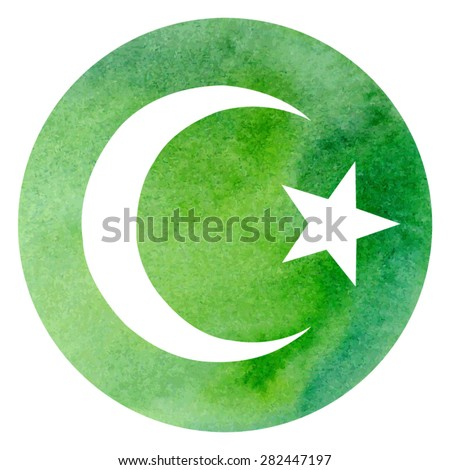 Vector illustration islamic symbol crescent star stock for Bright illustration agency