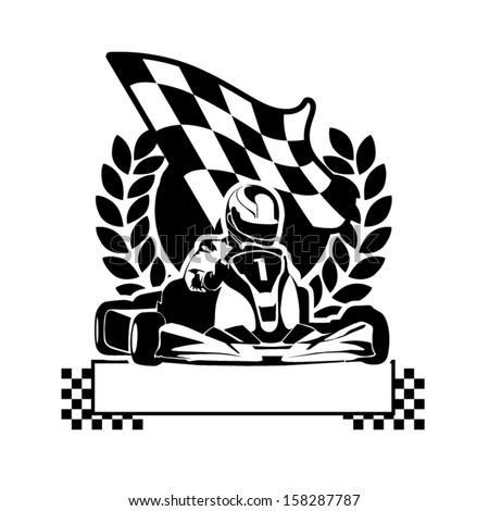 Go+Kart+Clip+Art+Running Go-Kart Racing Royalty Free Stock Vector Art ...