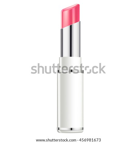 Vector illustration of lipstick separated on white background with shadow. Decorative professional cosmetics. RGB vector created with gradient mesh.