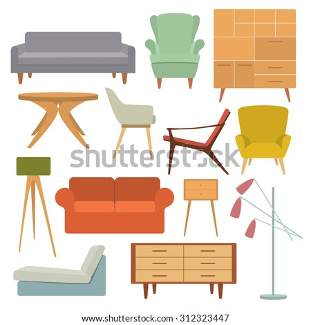 Vector illustration hand drawn coffee table stock vector for Table design vector