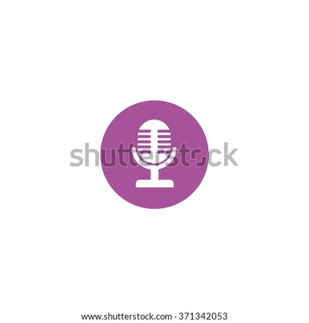Vector illustration of mic design, logo, template and icons. Flat Style Design.
