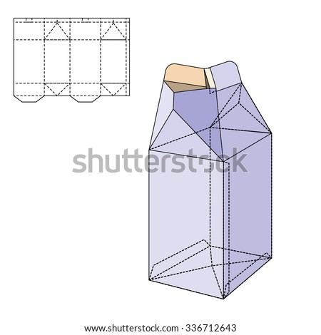 Retail Box Blueprint Template Stock Vector 376215631 ...