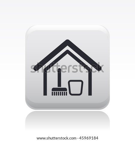 Vector illustration modern glossy black icon stock vector for Modern cleaning concept