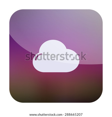 vector illustration of modern icon cloud