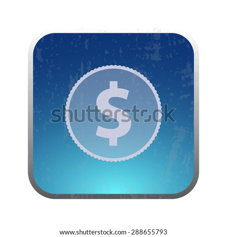 vector illustration of modern icon coin