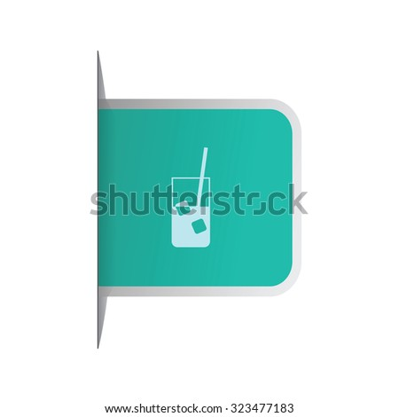 vector illustration of modern icon drink
