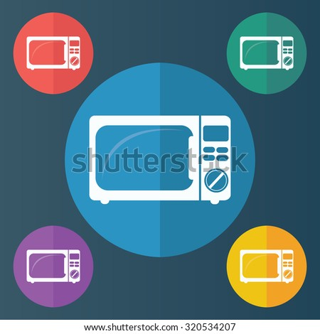 vector illustration of modern icon microwave oven