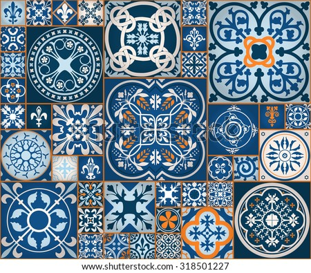 vector illustration moroccan tiles seamless pattern stock. Black Bedroom Furniture Sets. Home Design Ideas