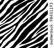 Vector illustration of seamless zebra pattern - stock vector