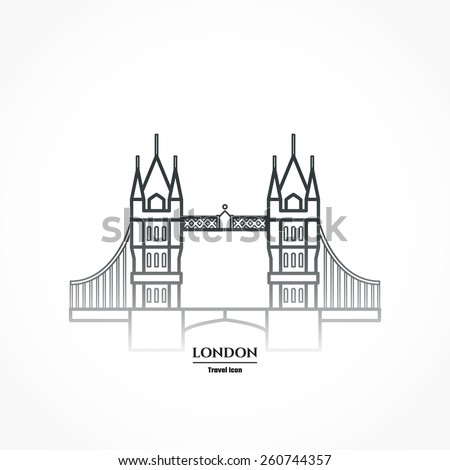 Vector Illustration London Icon Outline Design Stock Vector ...