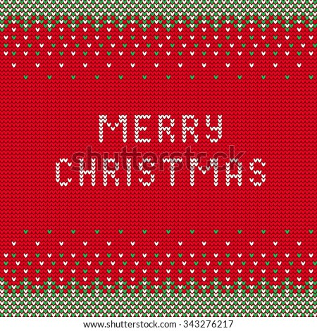 Vector Illustration Christmas Knitted Font Ugly Stock Vector ...