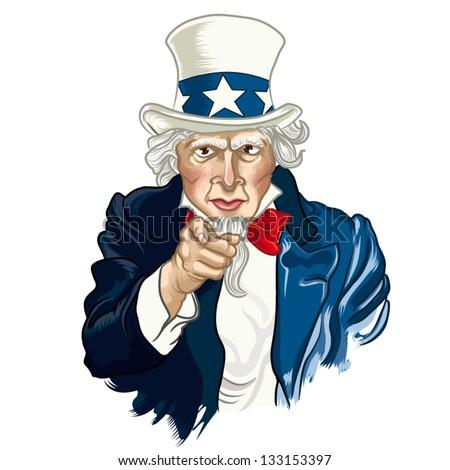 Vector Illustration Uncle Sam Stock Vector 138286478 - Shutterstock