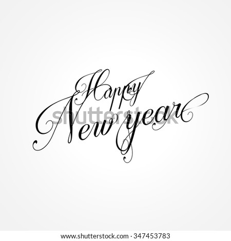 vector illustration or greeting card for happy new year with beautiful typography, year of the monkey.
