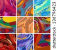 Vector Illustration Set of Abstract Painting Background Design - stock photo