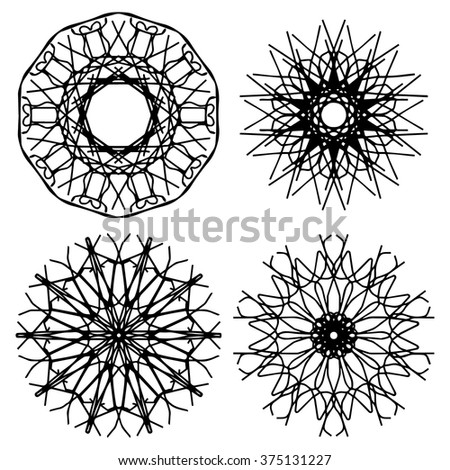 simple decorative mandala design stock vector 572250514 shutterstock. Black Bedroom Furniture Sets. Home Design Ideas