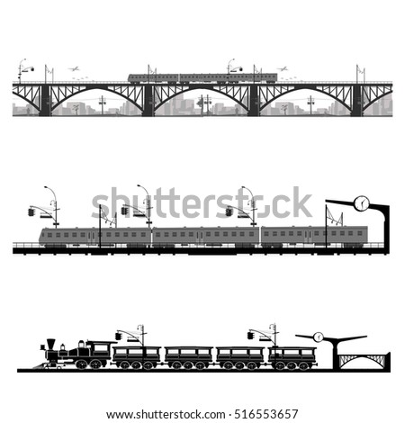 Vector illustration.Train and transportation