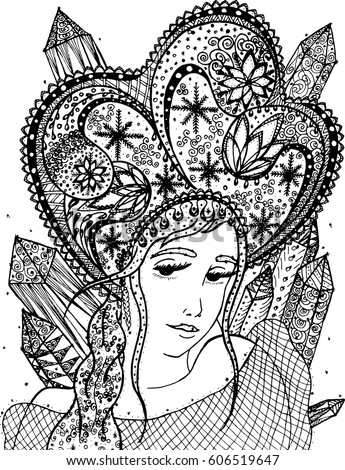 ethnic coloring pages | African American Pretty Girl Vector Illustration Stock ...