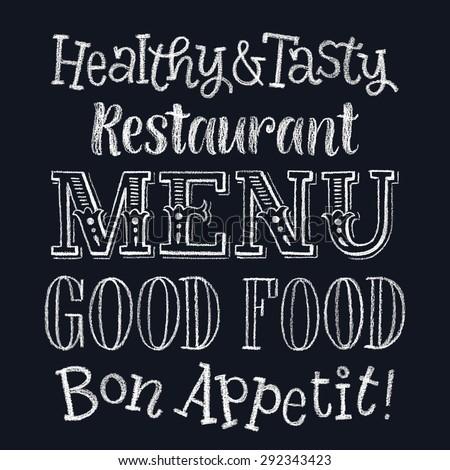 Font pencil vintage hand drawn alphabet stock vector for Cuisine font