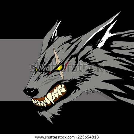 Vector illustration wolf