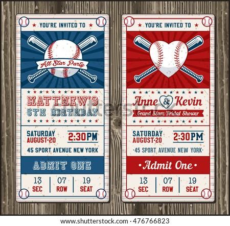 set vintage baseball tickets stock vector 261800627 shutterstock. Black Bedroom Furniture Sets. Home Design Ideas