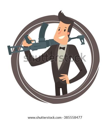 Simple cartoon businessman hamster wheel business stock vector 431729116 shutterstock - Hamster agent secret ...
