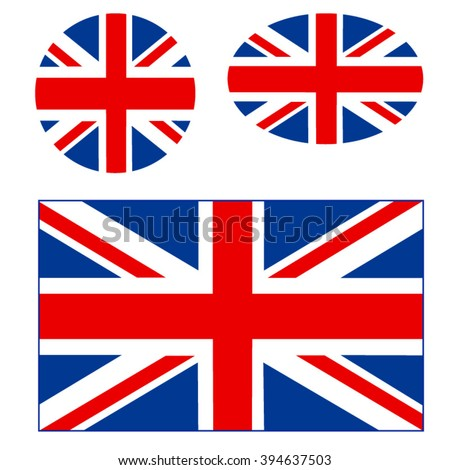 vector image of British flags
