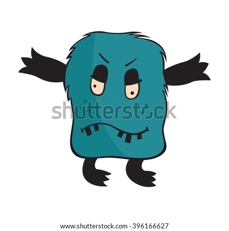 Vector image of character Monster on white background