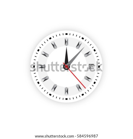 Analog Clock Stock Vector 80848360 Shutterstock