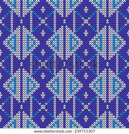 Knitted Norwegian Seamless Pattern Stock Vector 559928365
