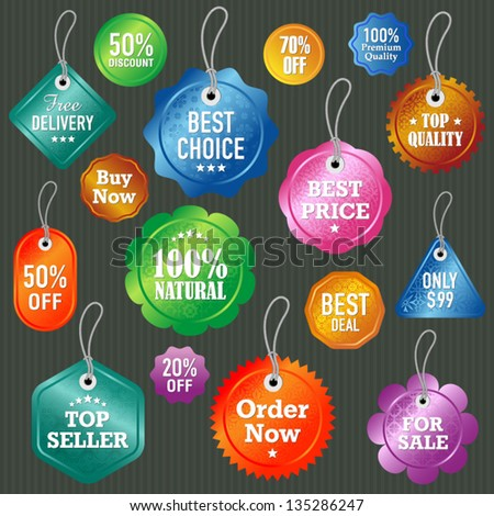 Vector labels and tags set 2