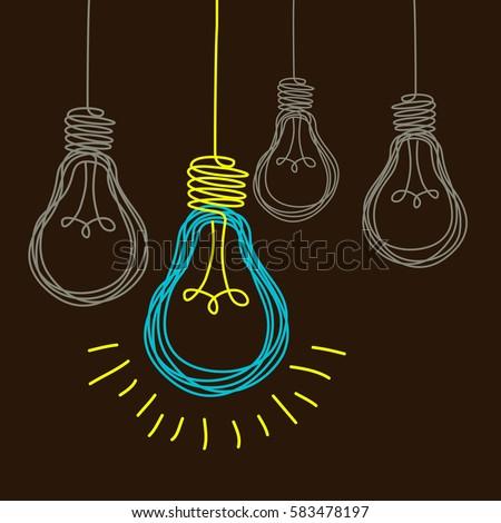 vector light bulb icon concept idea stock vector 197859284 light bulb vector free light bulb vector image