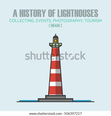 Vector lighthouse logo design templates in trendy linear style - abstract emblems and badges - navigational and travel concepts.