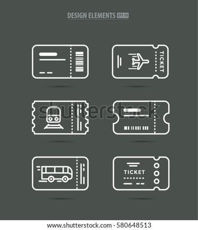 Vector Line Art Concert Ticket Icon Vector 486104065 – Concert Tickets Design