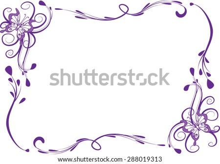 Vector Line Butterfly Border Stock Vector 287955620