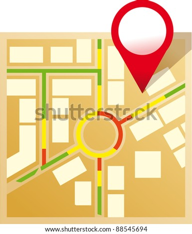 Vector map icon