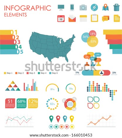 Vector Map United States America Illustration Stock Vector - Us flat map