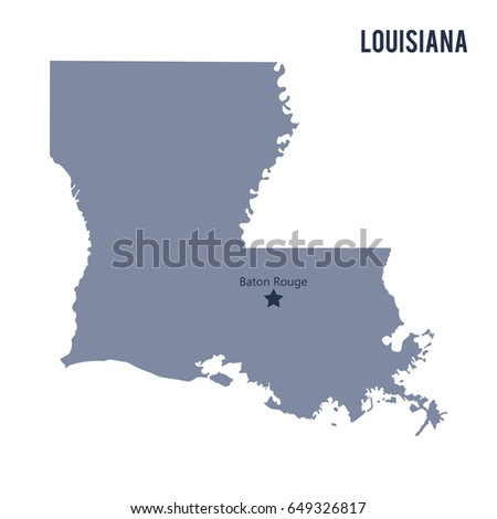 louisiana outline map set vector version stock vector 190578395