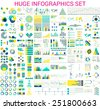 Vector mega set of  infographic elements - stock vector