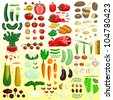 Vector mega vegetable set - stock vector