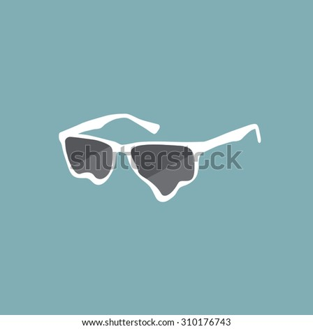 Vector Melting Sunglasses
