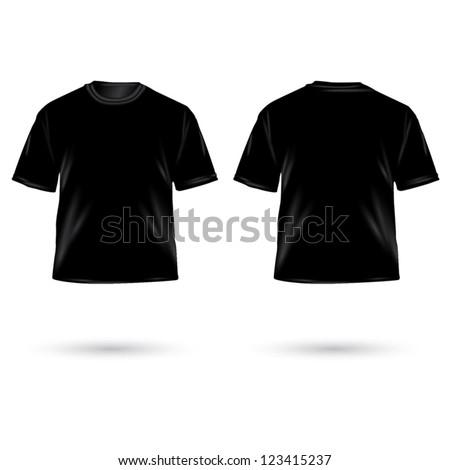 Black Tshirt Design Template Front Back Stock Vector 25832191 ...