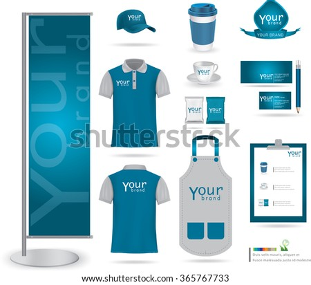 vector menu package tshirt cap uniform stock vector 365767730