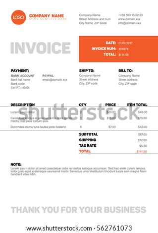 Invoice Capture Pdf Vector Minimalist Invoice Template Design Your Stock Vector  Confirm Receipt Email with Computer Service Invoice Pdf Vector Minimalist Invoice Template Design For Your Business  Company Polk County Business Tax Receipt Pdf