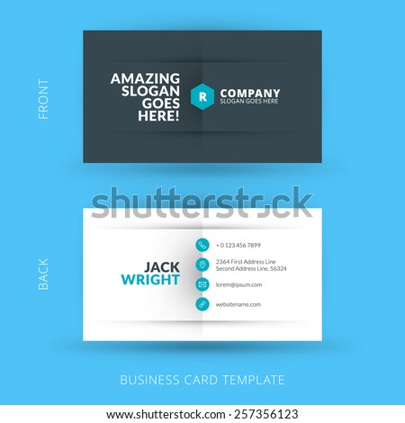 Business card vector background stock vector 200640317 for Business card display template