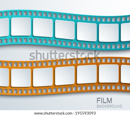Photographic film reflection on white background stock photo vector modern film background creative illustration eps10 voltagebd Image collections